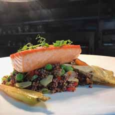 Salmon With Red Quinoa