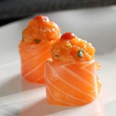 Salmon Sashimi Roll