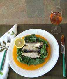 Sardines On Wilted Greens