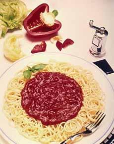 Mound Of Sauce On Pasta