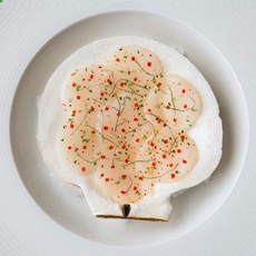 Raw Scallop Appetizer
