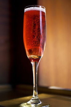 Valentine Champagne Cocktail