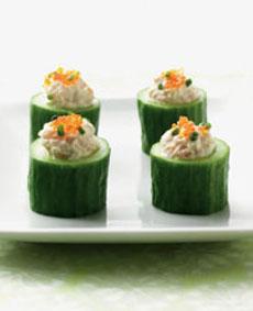 Shrimp & Wasabi Cucumber Appetizers