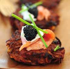 Latke Smoked Salmon Caviar