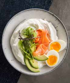 Skyr Breakfast, Eggs, Smoked Salmon