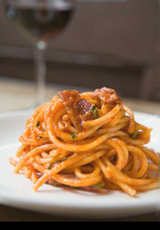Spaghetti & Red Wine