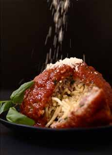 Spaghetti Stuffed Meatball
