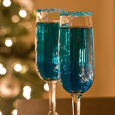 Blue Chanukah Cocktail