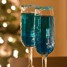 Blue Chanukah Cocktail
