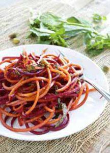 Spiralized Beet & Carrot Salad