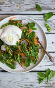 Spring Salad With Burrata