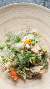 Squid Salad With Spring Peas