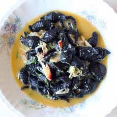 Squid Ink Pasta Shells