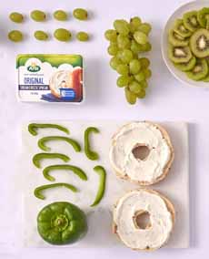 Green Bagel Toppings