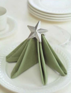 Star Fold Christmas Napkin