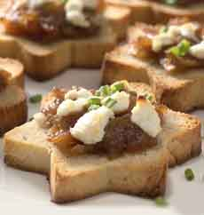 Star Shaped Bread Canapes