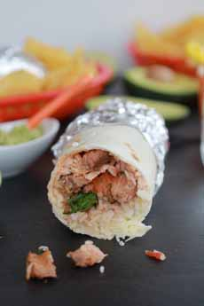 Steak Cilantro Burrito