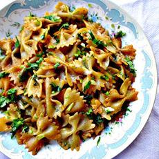 Stir-Fried Leftover Bowtie Pasta