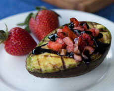 Grilled Avocado With Strawberries
