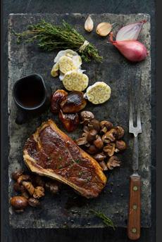 Grilled Bone In Strip Steak
