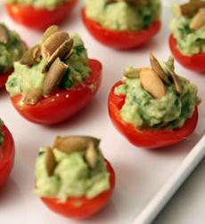 Guacamole-Stuffed Cherry Tomatoes