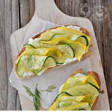 Summer Squash Bruschetta