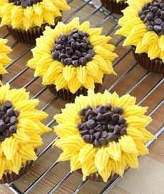 Chrysanthemum Cupcakes