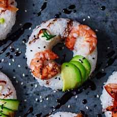 Shrimp Sushi Donuts