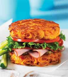 Spiralized Sweet Potato Bun