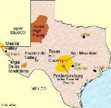 Texas Wine Map