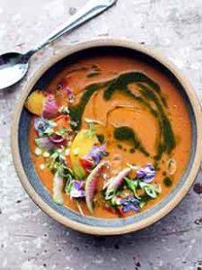 Tomato Peach Gazpacho