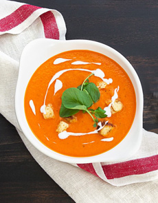 Tomato Soup Creme Fraiche