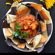 Pumpkin Salsa Tricolor Tortilla Chips