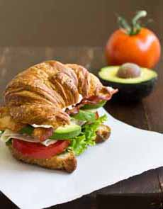 Turkey Avocado BLT On Croissant