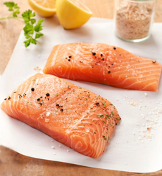 Raw Salmon Fillets