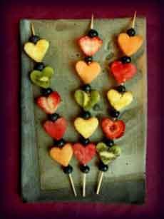 Valentine Fruit Skewers Kabobs