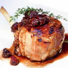 Veal Chop With Dried Cherries
