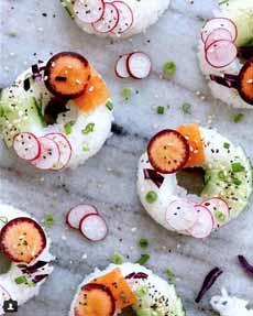 Vegetarian Sushi Donuts