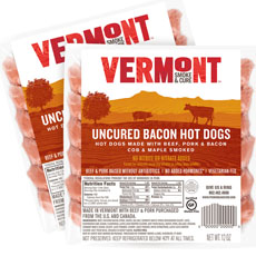 Vermont Cure Bacon Hot Dogs