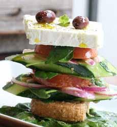 Vertical Greek Salad