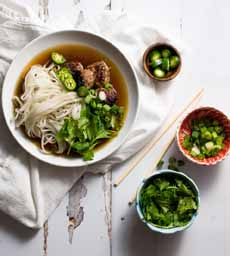 Vietnamese Pho With Meatballs
