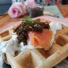 Smoked Salmon & Caviar Waffles