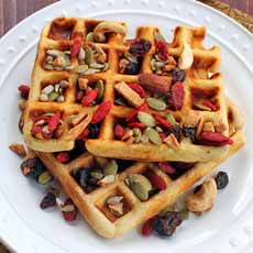 Trail Mix On Waffles