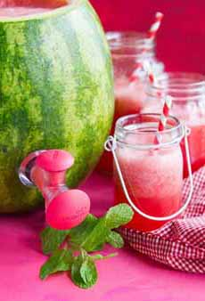 Watermelon Agua Fresca In Melon