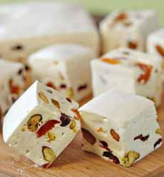 White Chocolate Nougat With Nuts & Candied Fruits