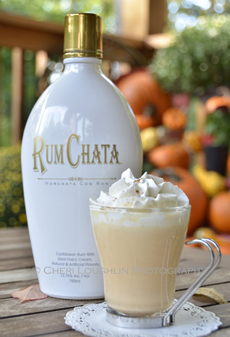 White Hot Chocolate With Spiced Rum