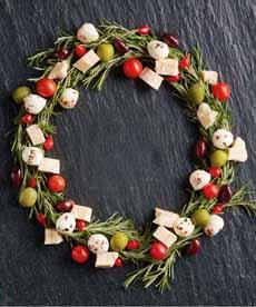 Cheese Christmas Wreath