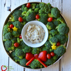 Crudites Christmas Wreath
