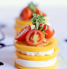 Yellow Tomato Caprese Salad
