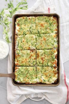 Zucchini White Pizza